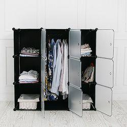 DIY 옷걸이 수납장 中 블랙