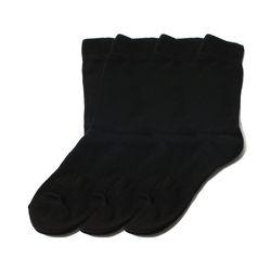 [3팩] 1257 WACOQ ATHLETIC BLACK SOCK
