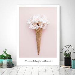 아이스크림 꽃 3 - 감성사진 폼보드액자(A4)
