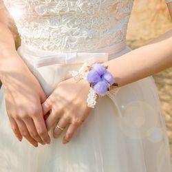 프리저브드 바이올렛 목화꽃팔찌