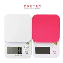 드레텍 디지털 전자저울(2kg) KS-254(화이트)(핑크)