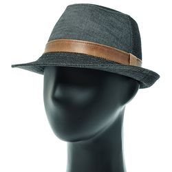 [더그레이]DMF03.투톤 데님 페도라 중절모 남성 모자
