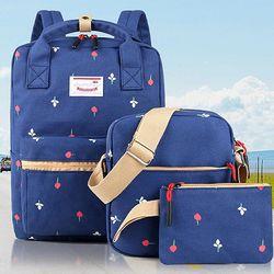 쓰리피스 패턴 백팩 세트 가방 케쥬얼백팩 CH1378568