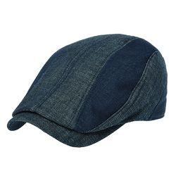 [더그레이]DMH03.투톤 데님절개 헌팅캡 남성 모자