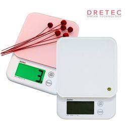 드레텍 디지털 주방저울(5kg) KS-514(화이트)(핑크)