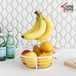 [토마톰스]바나나걸이형 과일정리대크림화이트