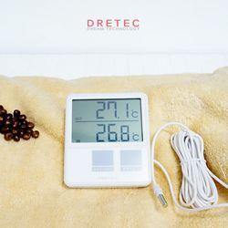 드레텍 실내외 디지털 온도계 O-215WT