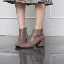 [쿠루] 여성 6cm 청키굽 미들힐 앵클부츠힐 G6445