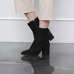 [쿠루] 여성 7.5cm 발등 절개라인 앵클부츠힐 G6443