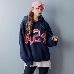 [로코식스] number lettering hood T티셔츠