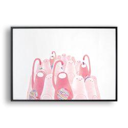 젤리를 먹어 핑크빛을 발산하는 초갸들