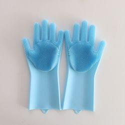 매직싹싹 실리콘 장갑 블루