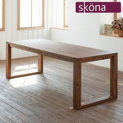 플리시 원목 6인 식탁 테이블