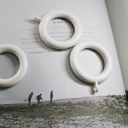 커튼링 10개 (지름3.5cm) 백아이보리 골드 블랙