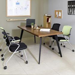 스틸 인더밴 1800테이블세트 사무실 테이블 철제책상