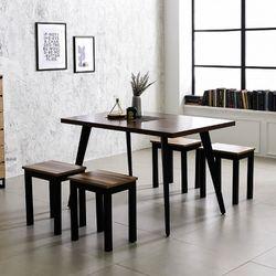 스틸 인더밴 1200식탁세트 4인식탁 철제테이블 책상