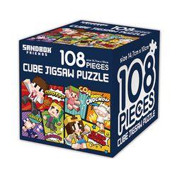 샌드박스프렌즈 큐브 직소퍼즐 108조각 나이스
