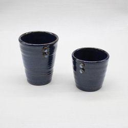 핸드메이드 도자기컵 머그잔세트(2p)-모나코블루