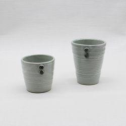 핸드메이드 도자기컵 머그잔세트(2p)-아쿠아블루