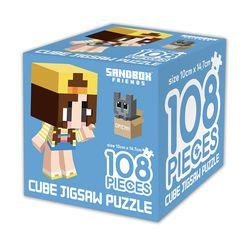 샌드박스프렌즈 큐브 직소퍼즐 108조각 잠뜰과 고양이