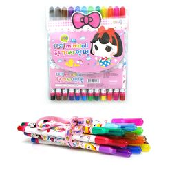미니돌 12색 향기싸인펜
