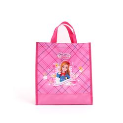 쥬쥬 체크사각 보조가방 핑크