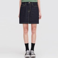 stitch denim skirt (s m l)