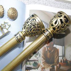 커튼봉(지름2.5cm) 12자 3단(190-360cm)-골드