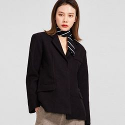 minimal snap button jacket