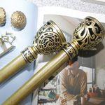 커튼봉(지름2.5cm)18자 3단(210-540cm)-골드