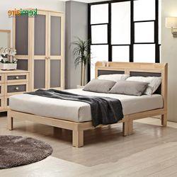 소나무원목 침대프레임 매트리스(Q) KMD-259