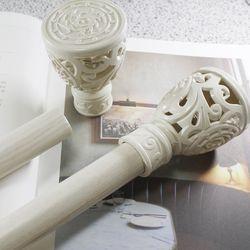 커튼봉(지름3.5cm) 6자 2단(100-180cm)-화이트