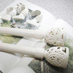 커튼봉(지름3.5cm) 8자 2단(130-240cm)-화이트