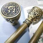 커튼봉(지름3.5cm) 6자 2단(100-180cm)-골드