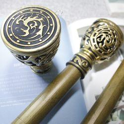 커튼봉(지름3.5cm) 12자 3단(190-360cm)-골드