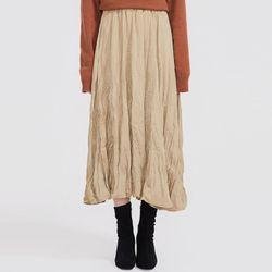 unbalance wrinkles skirt