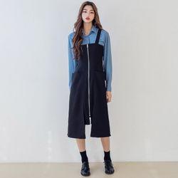 [로코식스] zipper overall OPS원피스
