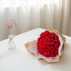 로맨틱 20송이 비누장미 크라프트꽃다발