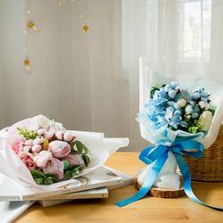 [DIY키트] 재롱잔치 목화 꽃다발만들기