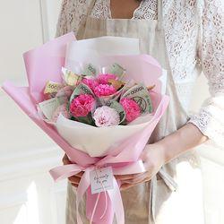[DIY키트] 10송이 비누카네이션 꽃다발돈다발만들기
