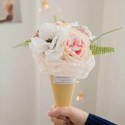 아네모네 아이스크림콘 사탕꽃다발