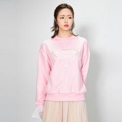 러브미 레이스 맨투맨(핑크)
