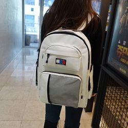 크러쉬 USB 백팩 (white)