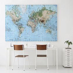 WORLDMAP 캔버스세계지도 140200