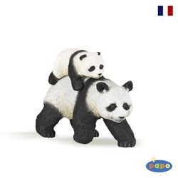 파포 동물 피규어 엄마팬다와 아기팬다(50071)