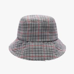 GLEN CHECK BUCKET (BLACK)