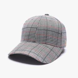 GLEN CHECK BALL CAP (GREY)