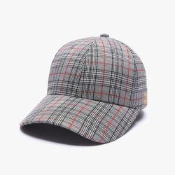 GLEN CHECK BALL CAP (BLACK)