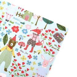 동물의 숲블루 패브릭스티커