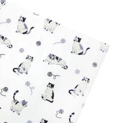 털실 고양이 패브릭스티커